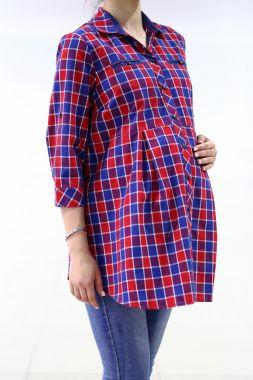 Рубашка. фланель клетка красно- синий 030 VILENA