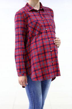 Рубашка. фланель клетка красно- синий 219 VILENA